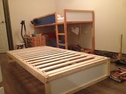 i hacked an extra bunk under the ikea kura double bunk bed you