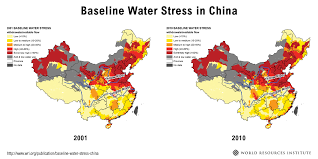 China On The World Map by China U0027s Water Stress Is On The Rise World Resources Institute