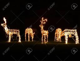 Lighted Santa And Reindeer Outdoor by Lighted Reindeer Outdoor Decorations U2022 Lighting Decor