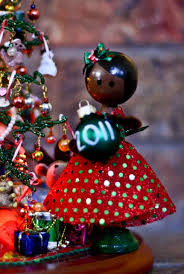 handmade african american christmas clothes pin doll i love