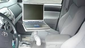 mobile laptop desk for car turn your car s cup holder into a laptop stand