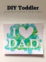 diy toddler painted father u0027s day card sew woodsy