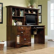 Cherry Desk With Hutch Sauder Cherry Computer Desk Hutch With Cinnamon Corner In Finish