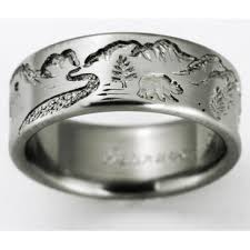 titanium wedding rings dillon 3 titanium ring with bears titanium wedding rings