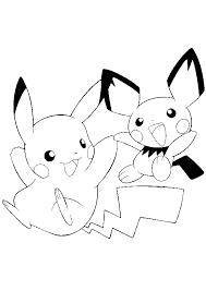 Coloriage Pokémon Pikachu et Pichu