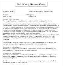 wedding planner contracts wedding contract template 24 free documents in pdf
