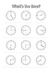 worksheet what s the time 5