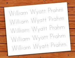 personalized print name trace worksheet pdf by pdotprintables