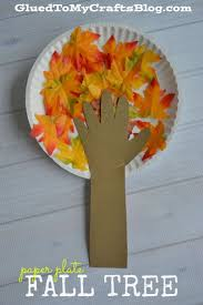 Kid Fall Crafts Paper Plate Fall Tree Kid Craft Fall Trees Kindergarten And