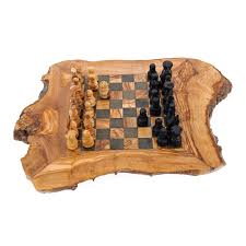 wood board game handmade wooden rustic chess set large 18