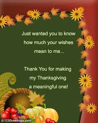 thanksgiving thank you wishes free thank you ecards greeting