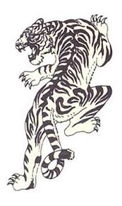 simple japanese tiger tattoo design