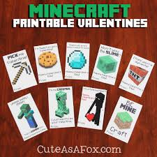 minecraft s day cards printable minecraft valentines free printable holidays and craft