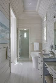 tongue and groove bathroom ideas the master bathroom also features a rectangular tray ceiling