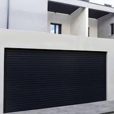 Porte Entree Grande Largeur Porte De Garage En Aluminium Sur Mesure Motorisée Enroulable