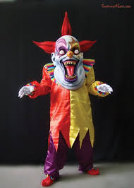 scary clown costumes oversized evil clown costume