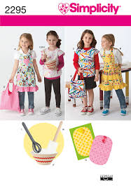 simplicity 2295 child u0027s aprons u0026 accessories