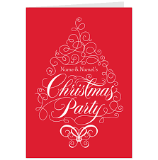 glamorous christmas party invitation clipart features party dress