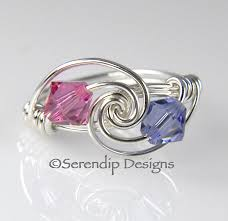 2 mothers ring mothers ring grandmothers birthstone ring best friends ring