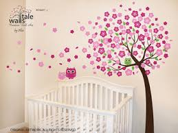Nursery Owl Wall Decals Cherry Tree Wall Decals With Owl Decals