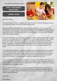 early childhood cover letter 28 images 12 early childhood