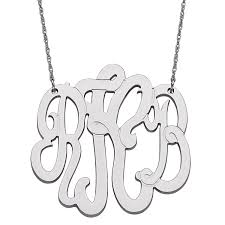 3 initial monogram necklace sterling silver sterling silver 3 initial monogram necklace large 23495