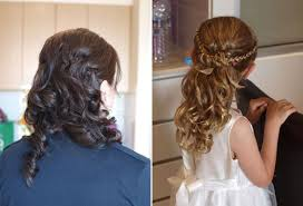 flower girl hair hair left flower girl right medium hair styles ideas 45989
