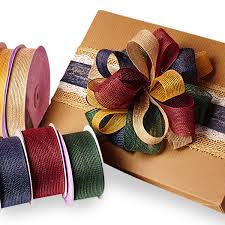 colored burlap ribbon colored jute ribbons