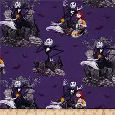 tim burton s the nightmare before allover purple
