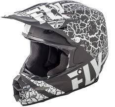 matte black motocross helmet f2 carbon fracture matte black white helmet fly racing