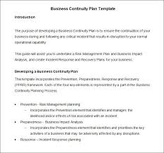 sample business continuity plan business continuity strategy