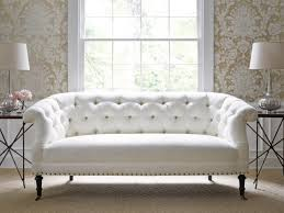 Transitional Style Living Room Furniture Furniture Transitional Living Room With White Tufted Leather Sofa