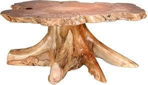 Tree Trunk Table Amish Rustic Big Leaf Burl Coffee Table With Stump Base Coffee