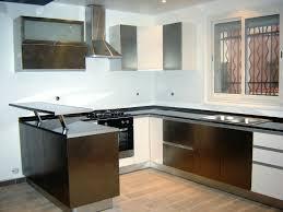 cuisine avec comptoir cuisine moderne métal blanc avec comptoir tlemcen cuisine