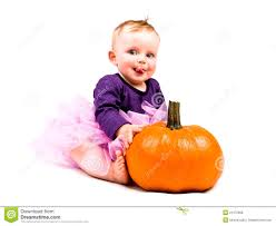 Girls Pumpkin Halloween Costume Baby Costume Halloween Pumpkin Royalty Free Stock