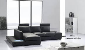 Modern Leather Sectional Sofas Divani Casa Polaris Contemporary Bonded Leather Sectional Sofa In