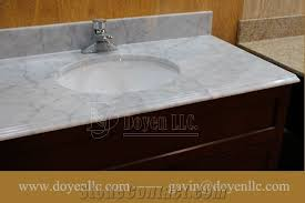 White Bathroom Vanity With Carrera Marble Top by Adorable Marble Bathroom Vanity Tops Powder Room Vanity