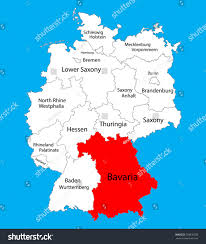 Blank State Map Bavaria State Map Germany Vector Map Stock Vector 528630538
