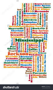 Map Of Ms Word Cloud Map Mississippi State Stock Vector 100248620 Shutterstock