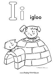 best photos of i is for igloo coloring page alphabet letter i