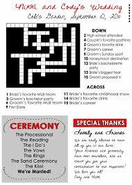 wedding program maker wedding program fans custom crossword puzzle fairgateinn i