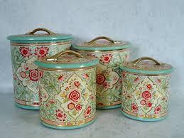 kitchen canister sets vintage kitchen canister set vintage floral kitchen storage tin