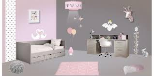 chambre fille enfant déco chambre enfant gris chambre