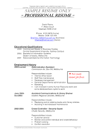 Resume Job History Format by Security Guard Resume Format Resume For Your Job Application