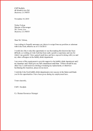 resignation template letter memo example
