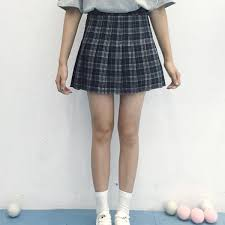 pleated skirts plaid pleated skirts 3 colors kogiketsu