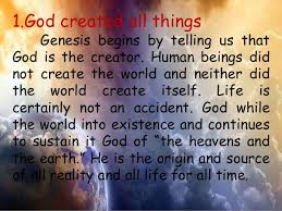what day did god create light the start god s creation all around us