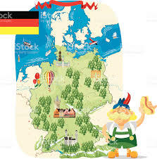 Maps Of Germany by Cartoon Map Of Germany Stock Vector Art 165906942 Istock