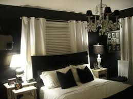 impressive painting bedroom with dark brown walls and white plaid