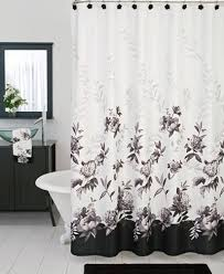 Shower Curtains With Matching Accessories Lenox Bath Accessories Moonlit Garden Shower Curtain Bathroom